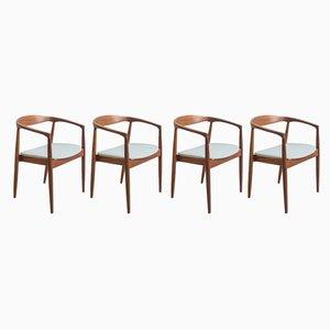 Poltrone Troja di Kai Kristiansen per Ikea, anni '60, set di 4