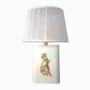 Lámpara de mesa modelo 13003/7 belga estilo Hollywood Regency de Massive, años 70