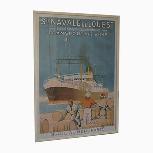 Affiche St. Navale de The West Transport Wines par Sandy Hook, années 30