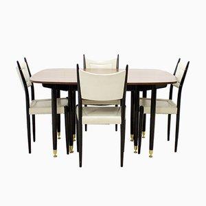 Ausziehbares Mid-Century Esstisch & Stühle Set von G-Plan, 1960er