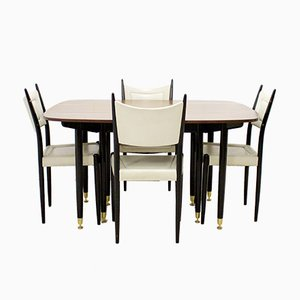 Mid-Century Extendable Dining Table and Chairs Set from G-Plan, 1960s
