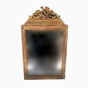 Antique French Gold-Leaf Mercury Mirror