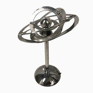 Lámpara de mesa era espacial de cromo, años 70