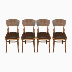 Antike Modell 57 Esszimmerstühle von Thonet, 4er Set