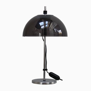 Dutch Chrome Plated Steel and Plexiglass Table Lamp, 1960s