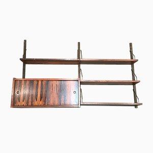 Scandinavian Modern Brass and Rosewood Shelves, 1950s