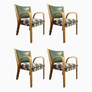 Beech Lounge Chairs by Hugues Steiner, 1950s, Set of 4