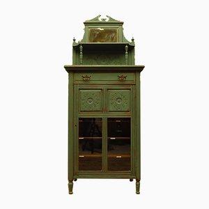 Antique Bohemian Painted Music Cabinet