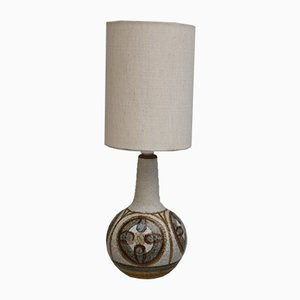 Danish Ceramic Table Lamp from Søholm, 1970s