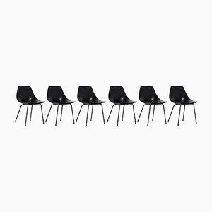 Chaises d'Appoint Mid-Century par Pierre Guariche pour Steiner, Set de 6