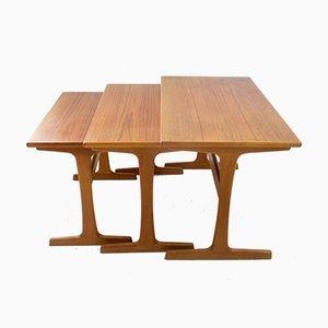 Tables Gigognes Mid-Century en Teck par Arne Wahl Iversen pour Vinde Møbelfabrik, Set de 3