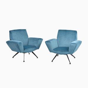 Italienische Sessel von Lenzi, 1950er, 2er Set
