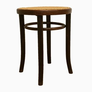 Bentwood and Rattan Stool, 1960s