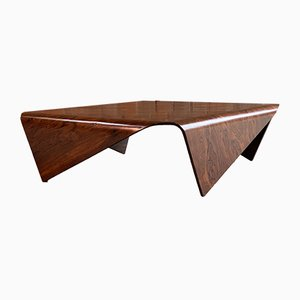 Brazilian Rosewood Square Coffee Table by Jorge Zalszupin , 1960s