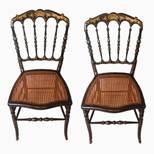 Antique Napoleon III Side Chairs, Set of 2