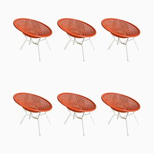 Lounge Chairs, 1960s, Set of 6