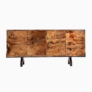 Italian Lacquered Goatskin Sideboard by Aldo Tura, 1970s