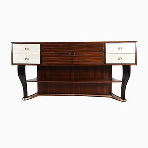 Italian Rosewood Sideboard by Vittorio Dassi for Dassi, 1940s