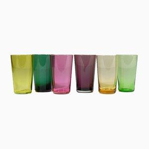 Bicchieri di Nuutajarvi, Finlandia, anni '60, set di 6