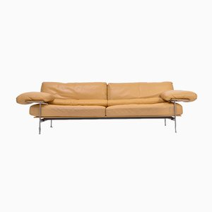 Ochre Leather Model Diesis Sofa by Antonio Citterio for B&B Italia / C&B Italia, 1970s