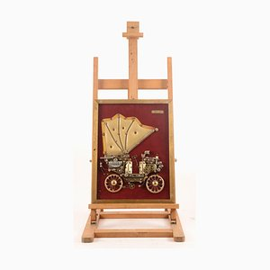 Italian Antique-Style Gear Car Decoration, 1980s