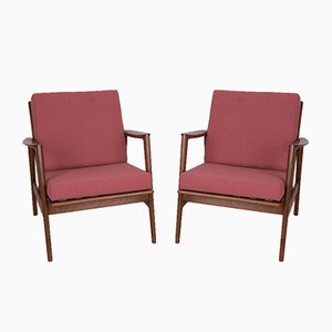 Model 300-139 Armchairs from Swarzędzka Furniture Factory, 1960s, Set of 2