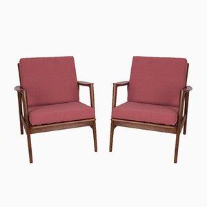 Modell 300-139 Armlehnstühle von Swarzędzka Furniture Factory, 1960er, 2er Set