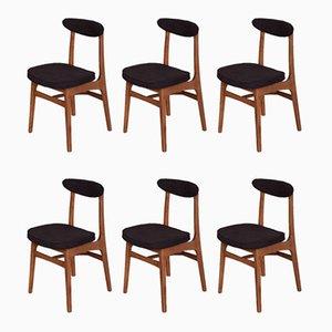 Modell 200-190 Esszimmerstühle aus Buche & Stoff von Rajmund Teofil Hałas, 1960er, 6er Set