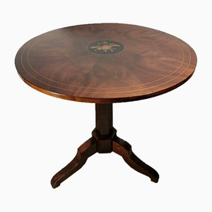Antique Italian Walnut Tripod Coffee Table