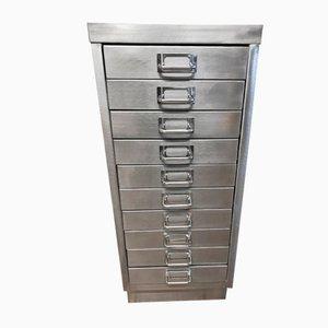 Vintage Industrial Metal Filing Cabinet, 1980s