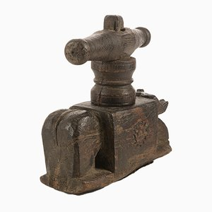 Antique Indian Carved Wooden Juice Press