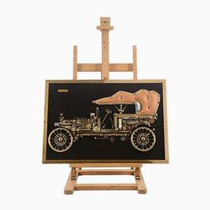 Dekorative italienische Autoteile Tafel, 1980er