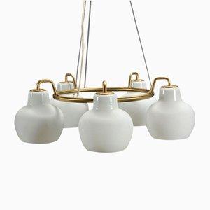 Lámparas de araña Ring de Wilhelm Lauritzen de Louis Poulsen, años 50. Juego de 2