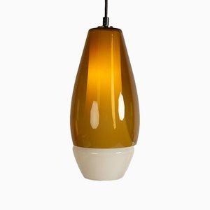 Lámpara colgante de vidrio de Bent Nordsted para Fog & Mørup, años 60