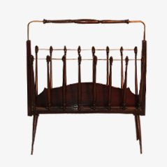 Italian Wooden Magazine Rack
