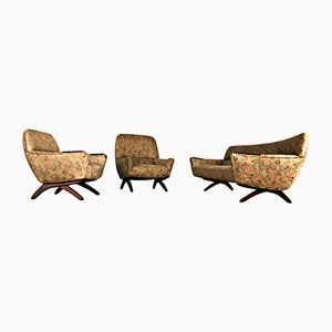 Teak Sofas and Armchairs by Leif Hansen from Kronen, 1960s, Set of 3