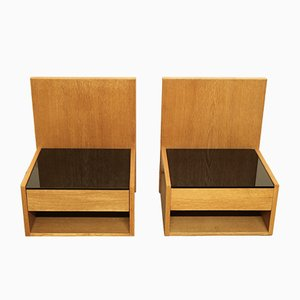 Danish Nightstands by Hans J. Wegner for Getama, 1960s, Set of 2