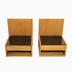 Tables de Chevet par Hans J. Wegner pour Getama, Danemark, 1960s, Set de 2