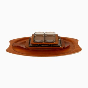 Danish Teak Serving Trays from Wiggers, 1960s, Set of 4