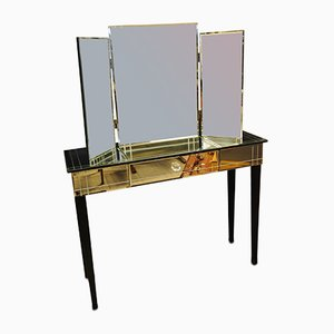 Art Deco Style Console Table and Mirror Set, 2000s