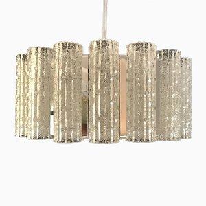 Lampadario in metallo cromato di J. T. Kalmar, anni '60