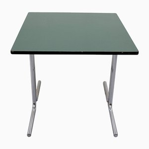 Square Tubular Steel Desk with Green Countertop, 1960s