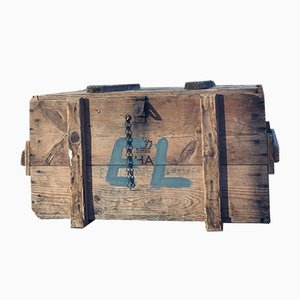 Dänische Vintage Holztruhe