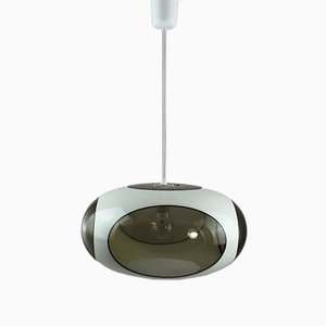 Vintage White Ceiling Lamp by Luigi Colani