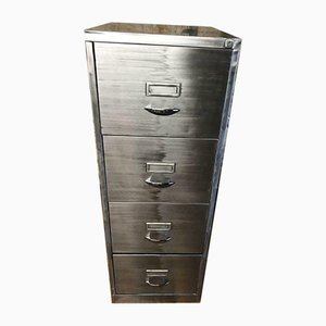 Vintage Industrial Metal Filing Cabinet