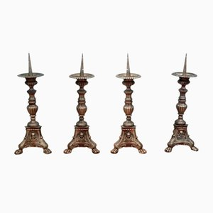 Antique French Candleholders, Set of 4