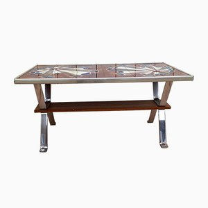 Mid-Century French Tiled Coffee Table, 1960s