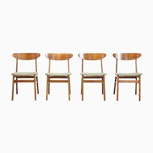 Dänische Modell 210 Esszimmerstühle von Farstrup Møbler, 1960er, 4er Set
