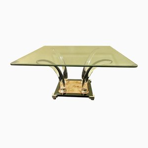 Lucite and Glass Coffee Table by Maison Jansen, 1980s