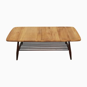 Mid-Century Beech and Elm Coffee Table by Lucian Ercolani for Ercol